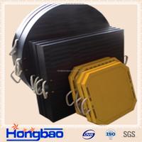 black anti-impact crane pad/ground protection mat/hard plastic floor mats