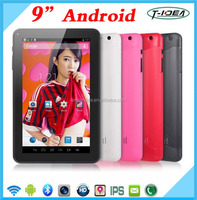 "Hot Selling 9"" Android Tablet With H DMI Output, Dual Core 9"" Android Tablet Pc With Wifi Camera And 8GB Memory"