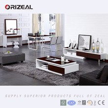 ORIZEAL LIVING ROOM INTERIOR DESIGN WITH COFFEE TABLE, DINING TABLE AND TV STANDS(OZ-DS7)