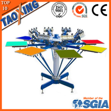 All steel structure 8 color 8 station t shirt printing machine prices