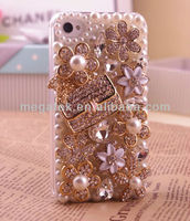 Bulk Mobile phone case phone accessories jewelry rhinestone bling hard case for iphone 5 5s