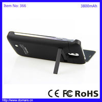 Domars Best Selling 3800mAh Samsung Note 3 High Capacity Battery Case Charger