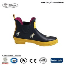 Women Ankle Rubber Rain Boots,Lovely Dogs Rubber Rain Boots For Women,Lightweight Rubber Rain Boots
