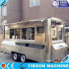 camper van crepe food van Yieson mobile canteen camper trailer stainless steel kitchen YS-FV450