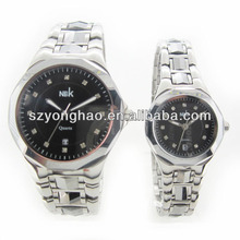 alibaba express fashion jewelry watch stainless steel back pair alloy watch
