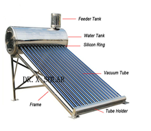 all stainless steel thermosiphon vacuum glass tube solar water heater