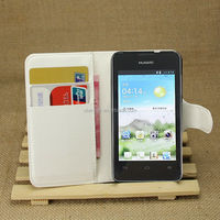 Leather Wallet Flip Case Skin Cover & Stylus Pen For Huawei Ascend Y330
