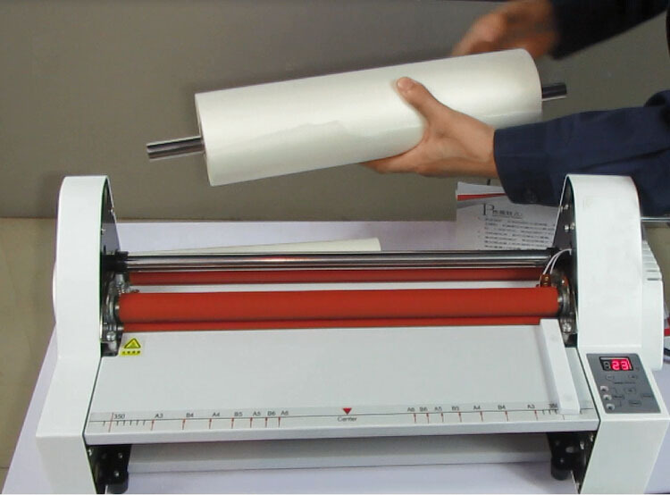 Office equipment heated roll Laminator/office laminator/roll laminating machine for sale