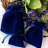 Navy Blue Velvet Pouch, Mini Velvet Pouch, Velvet Pouches For Gift