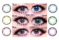HOT korea EOS LUNA Ice II hazel cheap green colored contact lenses