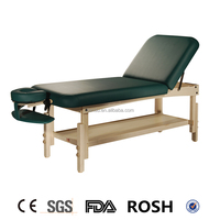 adjustable hot sale beauty Stationary physiotherapy wooden professional spa salon SCT massage table