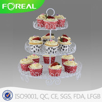 white coat powder white 16 cups cake stand