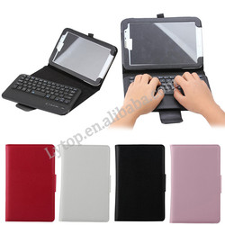 Hot Sales Litchi style detachable Leather PU keyboard case for samsung galaxy note 8.0 N5100