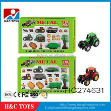 Kids small toy cars metal model car toy farmer truck series for children HC274631