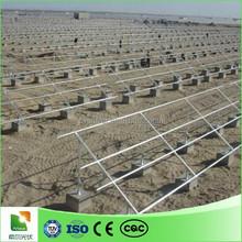 ground concrete foundation PV solar panel racking system