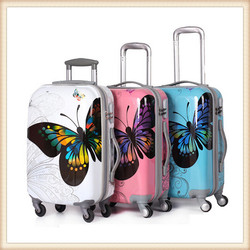 Custom cover PC frosted travel trolley luggage Carry-on luggage