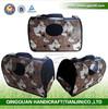 QQPET Factory Pet Supplier Paw Printed Pet Carrier Bag Hot Dog Carrier Cat Carrier