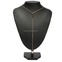 New Design Metal Chain Bar Circle Lariat Triangle Punk Sexy Necklace Casual Fashion Female Jewelry