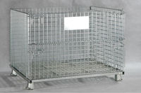 Welding collapsible wire mesh rolling security cage for wine storage