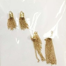1800167 Jewelry tassel chain fringe for necklace ,gold metal chain tassel for bag