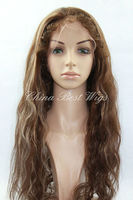 22inch 4,27# color full lace wig pic curl hair style