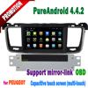 Touch screen android dvd player for peugeot 508 car dvd gps with wifi 3g mp4/3 SWC mirror link TONTEK