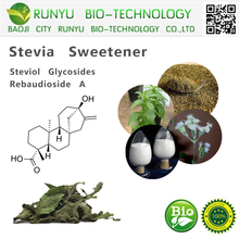 CAS 57817-89-7 stevia extract steviol glycosides and rebaudioside A stevia sweetener