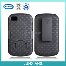 High quality plastic case swivel belt clips for blackberry q10 with stand