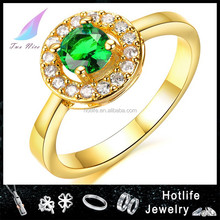 alibaba china New design Stock amethyst diamond 2 gram gold ring