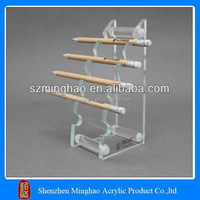 Direct factory clear acrylic pencil holder, acrylic pen holder