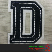 Felt and Fabric Sew on Letter Patch