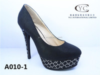 2015 Alibaba hot selling fashion high heel shoe with low price new brand dress shoes with diamond decoration