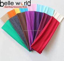 fashion unisex assorted color cotton stretch sport headband
