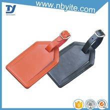 Travel accessories off-standard accessories bulk embossed leather luggage tag wholesale