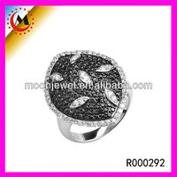 YIWU FACTORY RING SILVER GEMSTONE RINGS JEM STONES WITH RHODIUM PLATED