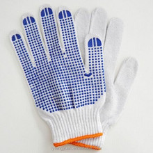 4 yarn PVC dotted cotton industrial gloves export to Brazil market