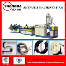 plastic PVC/PE/PP single wall corrugated pipe equipment/production line/cable protection pipe making machine from qingdao china