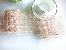 Natrual woven wraphia jute mesh ribbon for gift packaging& florist use popular in America