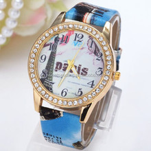 New wholesale price fashion trend design silicone geneva diamond quartz watches