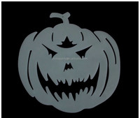 Plastic halloween glow in dark hanging pumpkin decoration
