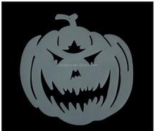 Plastic halloween glow in dark hanging pumpkin decoration
