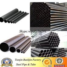 High quality thin wall q235 material black scaffolding tube