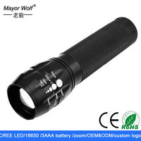 powerful geepas rechargeable cree led flashlight with oem service