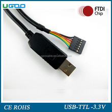 1.8m FTDI FT232RL USB to Serial adapter module USB TO TTL 3v3 6PIN Arduino Cable