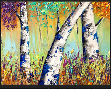 Contemporary Tree Painting Modern Decorative Oil Painting For Sale