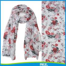 lovely story rose chiffon scarf