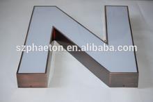 Halo signo de la letra, acrílico led de letras, led letras de acrílico