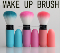 Candy Color Single luxury Synthetic Soft hair Kabuki cylinder and square column makeup brush Telescopic cosmetic brush