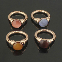 free sample cheap stainless steel opal ring for girls