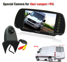 7 inch High brightness Rear view mirror Monitor backup camera system for Van/camper/RV
